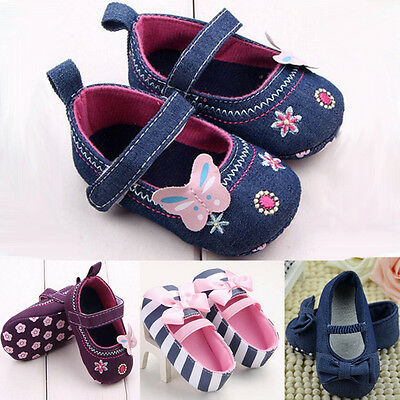Toddler Newborn Baby Girl Soft Sole Crib Shoes Anti-slip Pram Prewalker Sneakers
