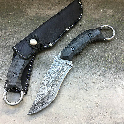 SR S020B Fixed Blade Bowie Camping Survival Tool Fishing Hunting Kukri Knife