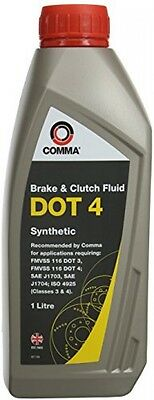 Comma BF41L 1L DOT 4 Brake And Clutch Fluid
