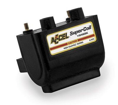Accel Super Coil Points/Prestolite Black for Harley 65-79