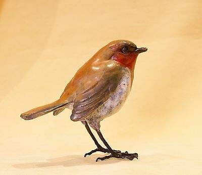 Solid Hot Cast Bronze  - Robin - Certificate Authenticity