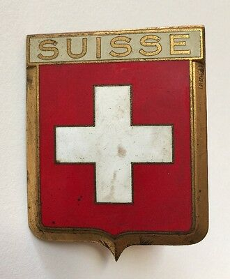 Original Vintage 1950's DRAGO SWITZERLAND SUISSE Auto Car Grill Badge Emblem