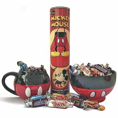 Mickey Mouse Gift Set with Cereal Bowl, Mug, Apron and Celebrations Chocolates