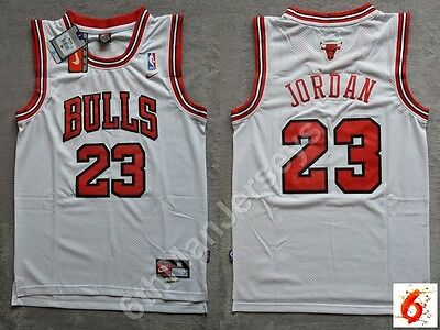 NBA Michael Jordan #23 Chicago Bulls RETRO white swingman jersey - size S/M/L