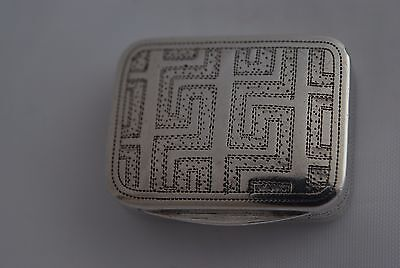 Beautiful George Iii Solid Sterling Silver Vinaigrette By Matthew Linwood 1808
