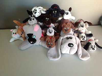 Vintage Pound Puppies Purries Cats Lot of 16 Plush Stuffed Animals