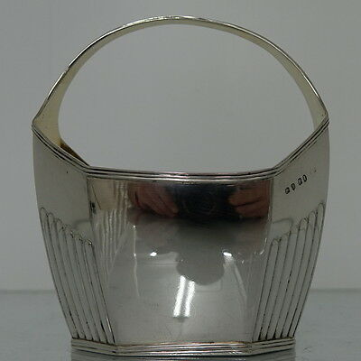 Sterling Silver Antique Sugar Basket Made By William Fountain London 1799