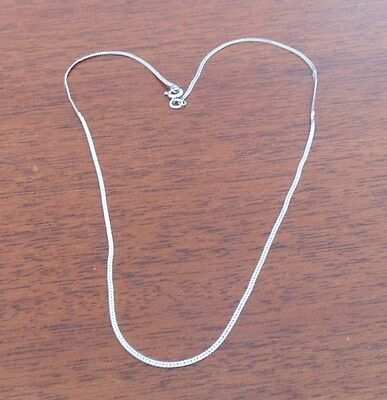 Quality Sterling Silver CHAIN SERPENTINE 15'' Collier Chaîne Argent 925