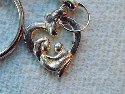 Sterling Silver Key Ring  Mother and Child Attache Clefs Argent 925