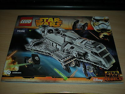 Lego Instruction Manual - (75106) - Star Wars - Imperial Assault Carrier *New*