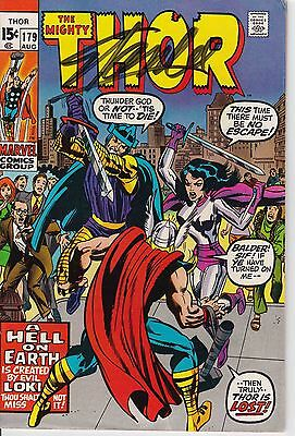 The mighty Thor #179  Signed By Stan Lee With COA