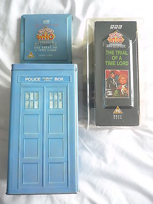 "DOCTOR WHO BBC 30th Anniversary Box Set (Videos-VHS) in Presentation Tin -8.5"" H"
