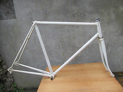BEAU LEGER CADRE VINTAGE VELO COURSE LIGHTWEIGHT ROAD RACING BICYCLE FRAME 55cm