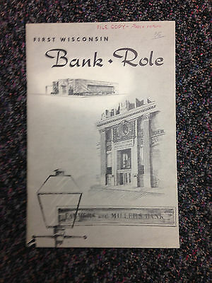 1954 First Wisconsin Bank Book Streets Of Old Milwaukee Vol 1