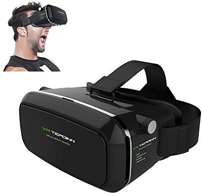 Tepoinn 3D VR Glasses, 3D VR Headset Virtual Reality Box with Adjustable Lens 5