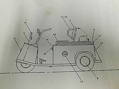 Taylor Dunn Electric Personnel Carrier Service Parts Repair Manual (E1-2129)