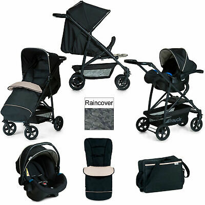 New Hauck Caviar / Beige Shop N Drive Travel System Pushchair Stroller Car Seat