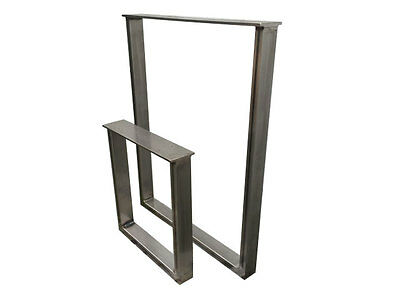 Industrial steel metal dining / bench / coffee table legs 50mm x 25mm section
