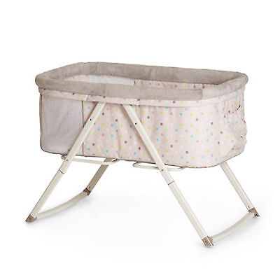 New Hauck Multi Dots Sand Dreamer Bassinet / Travel Cot / Portable Baby Cradle