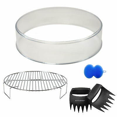 NuWave Oven 3 inch Plastic Extender Ring + 2 inch Grill Rack + Accessories