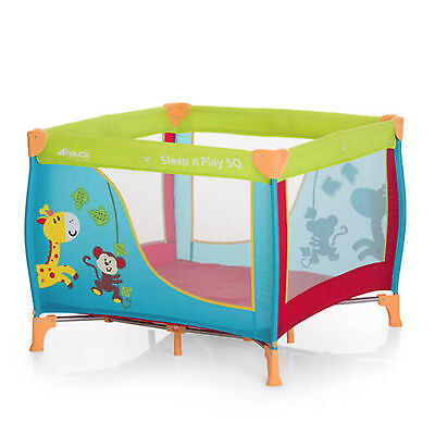 New Hauck Multicoloured Jungle Fun Dream N Play Square Travel Cot / Baby Playpen