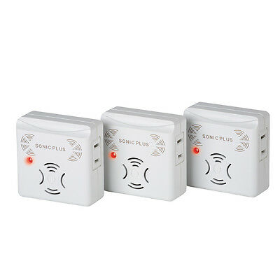 Riddex Sonic Plus Pest Repeller - Set Of 3, by Collections Etc