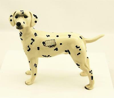 """Vintage Made In England DALMATIAN Dog Figurine 8"""" Wide by 6-1/2"""" Tall"""