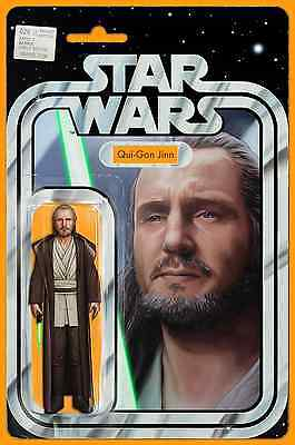 Star Wars 26 John Tyler Christopher Qui-Gon Jinn Action Figure Variant Nm