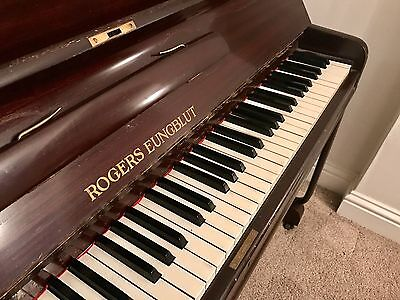 Rogers Eungblut 85-key Upright Piano, from 1930s onward - beautiful and in tune!