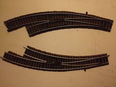 Fleischmann -ho Scale profi track 6142 right hand & 6142 left hand curved points