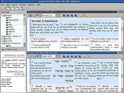 BibleTime (Professional Bible Study Software Suite) for Windows and Mac on a CD