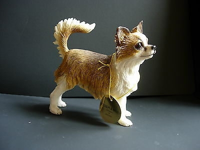 Chihuahua dog model Leonardo long haired figure standing pose new boxed