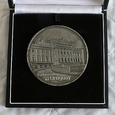 URUGUAY PARLIAMENT 65mm MEDAL - boxed