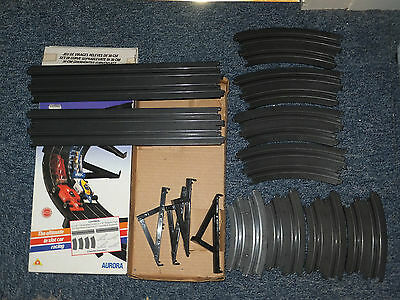 BOXED AFX/Tomy DOUBLE BANK set, 16 pieces- straights banks SUPPORTS, Aurora