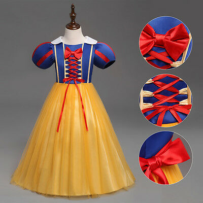 Kid Girl Baby Princess Tutu Dress Snow White Queen Costume Cosplay Fancy Dresses