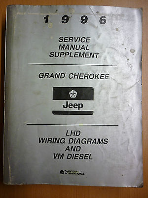 Jeep Grand Cherokee LHD Wiring Diagrams & VM Diesel Service Manual Supplement