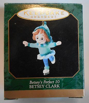 "1999 Hallmark Miniature Ornament ""Betsey's Perfect 10"" Betsey Clark MIB"