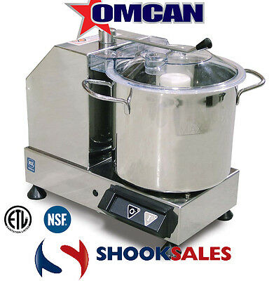 Omcan 10833 European Stainless Steel Restaurant 5.5QT Small Bowl FOOD Processor