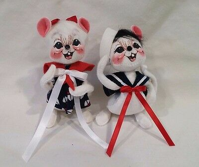 ANNALEE DOLLS Sailor Girl And Boy Mouse Pair MINT