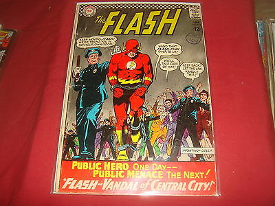 THE FLASH #164 Silver Age  Barry Allen  DC Comics 1966 VG