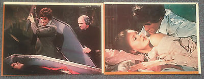 2 ORIGINAL HAMMER LOBBY CARDS DRACULA HAS RISEN FROM THE GRAVE Christopher Lee