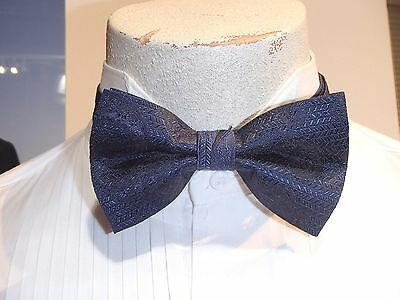 Men's Blue Formal Tuxedo Bow Tie and Long Tie Celebrity Paisley by Andrew Fezza