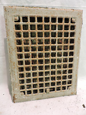 Antique Iron Heating Vent Grate Square Design 14 X 11  F