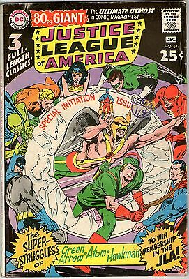 Justice League Of America #67. Vol1. DC Dec 1968. 80 Page Giant. VG/VG+