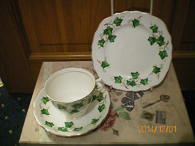 Vintage China  Colclough Green Ivy Tea Trio Great Gift  Christmas Gift
