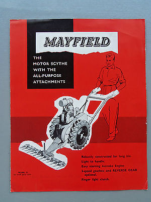 Mayfield Motor Scythe With All Purpose Attachments Brochure Rare Find