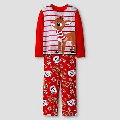 Kids' 2 pc Rudolph the Red-Nosed Reindeer® Pajamas Sz L - Red with Nose NWT