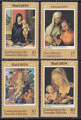 New Hebrides 1978 Mint NH Christmas Stamps (S_51)