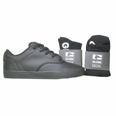 Globe Tribe Black Bts Leather Mens Shoes Skateboard Casual Sneakers