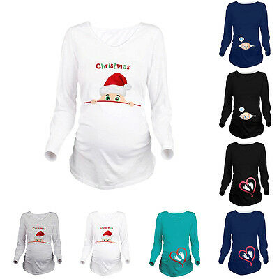 Maternity Pregnant Womens Lovely Cartoon Baby Printed T-shirts Loose Blouse Tops